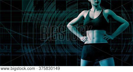 Fitness App Technology Wearable of the Future 3d Render
