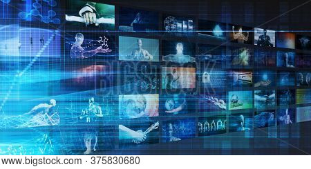 Video Marketing Across Multiple Channels and Networks 3d Render