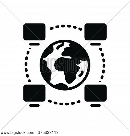 Black Solid Icon For Operability Project Management Network Software Technological Multicast Cyber S