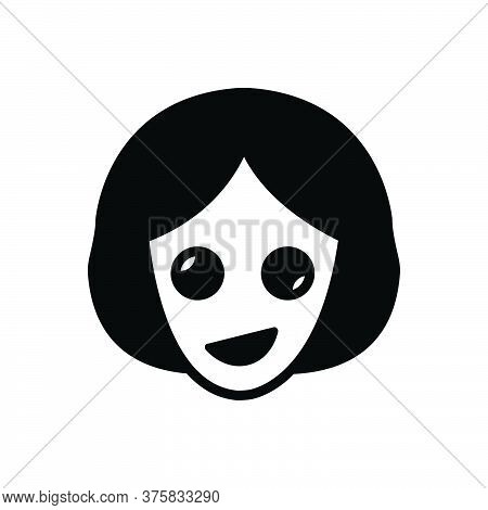 Black Solid Icon For Oddity Abnormality Contrast Dissimilarity Irregularity Woman