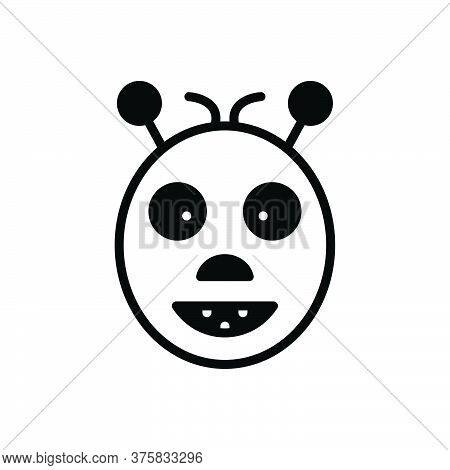 Black Solid Icon For Oddity Abnormality Contrast Dissimilarity Irregularity