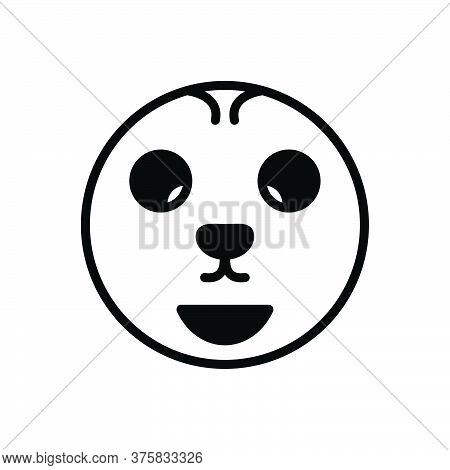 Black Solid Icon For Offbeat Odd Strange Weird Unusual