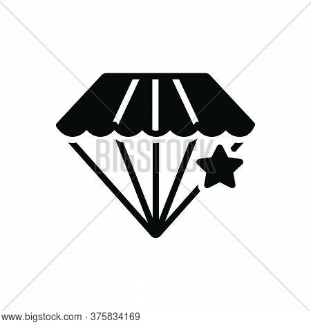 Black Solid Icon For Pawnshop Diamond Jewellery Ornament Accuracy Shining