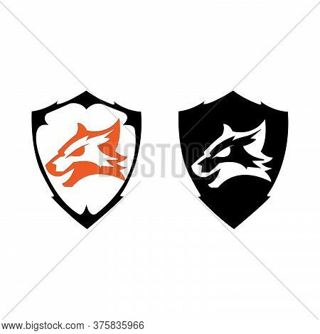 Save Download Preview Illustration Design Unique Fox In Flat Design Symbol. Beautiful Fox. Fox Anima