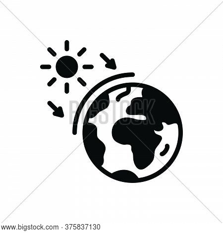 Black Solid Icon For Ozone World Layer Earth Geography Global Atmosphere Surface Sun Global-warming