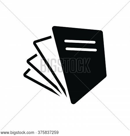 Black Solid Icon For Paperfree Document Page Paperwork Paper Free