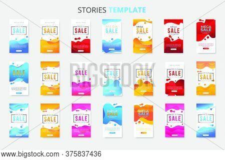 Mega Collection Of 21 Sale Banner Template For Social Media Stories. Vertical Banner Template Bundle