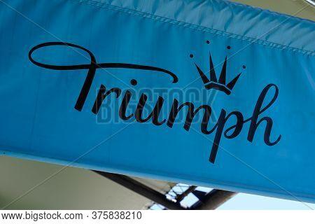 Bordeaux , Aquitaine / France - 07 06 2020 : Triumph Lingerie Company Logo Sign On Shop Of Internati