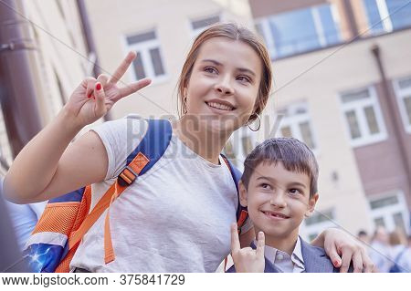 Brother And Sister Back To School Smile Joy