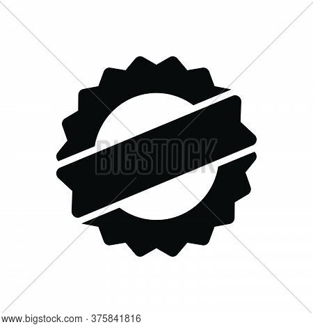Black Solid Icon For Premium-quality Premium-quality Guarantee Approval Best-quality Stamp Seal Cert