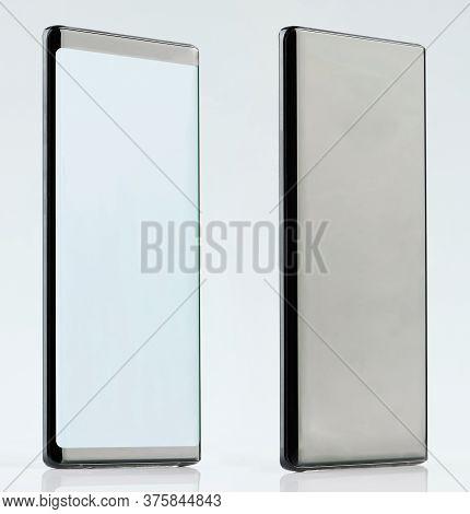 Isometric View Of Black Generic Smartphone