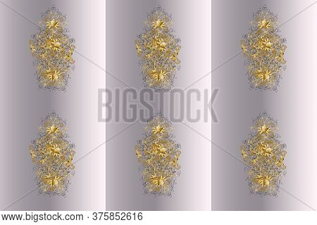 Traditional Classic On Neutral And Gray Colors Ornament Element. Sketch. Vintage Pattern With Arabes