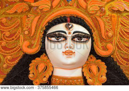 Clay Idols Of Goddess Durga, Under Preparation For
