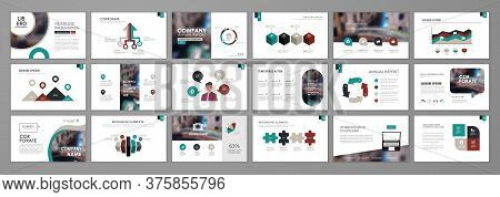 Presentation Templates Design. Vector Templates Portfolio With Infographic Elements. Multipurpose Te