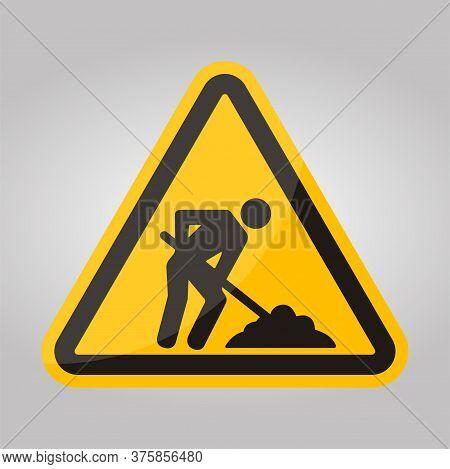 Under Construction Symbol Sign Isolate On White Background,vector Illustration Eps.10