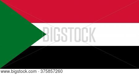 National Sudan Flag, Official Colors And Proportion Correctly. National \nsudan Flag.