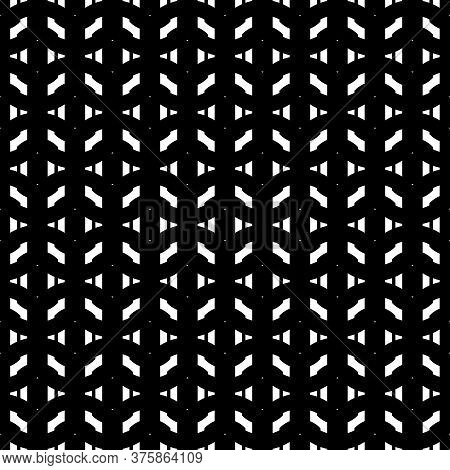 Design Seamless Grating Pattern. Abstract Monochrome Stripy Background. Vector Art