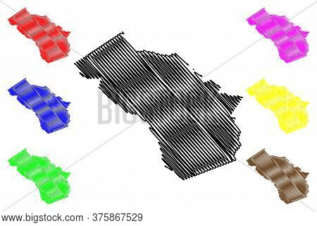 Oconee County, Georgia (u.s. County, United States Of America,usa, U.s., Us) Map Vector Illustration