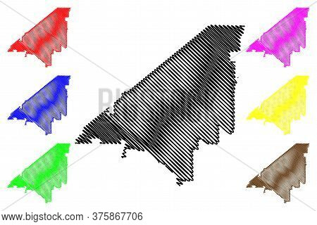 Peach County, Georgia (u.s. County, United States Of America,usa, U.s., Us) Map Vector Illustration,