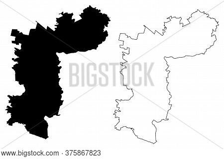 Zapopan City (united Mexican States, Mexico, Free And Sovereign State Of Jalisco) Map Vector Illustr