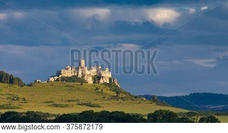Ruin of Spis Castle in Slovakia