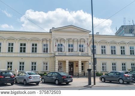 Lublin, Poland - June 11, 2020: National School Of Judiciary And Prosecutor's Office.