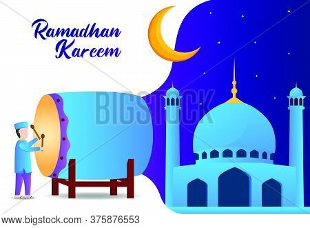 Illustration Vector Graphic Of Muslim Who Celebrates Eid Al-fitr. Perfect For Ramadan Illustrations.