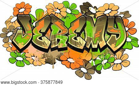 Jeremy. A Cool Graffiti Styled Logotype Design. Legible Letters Aimed For A Wide Range Audience Of A