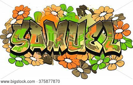 Samuel. A Cool Graffiti Styled Logotype Design. Legible Letters Aimed For A Wide Range Audience Of A