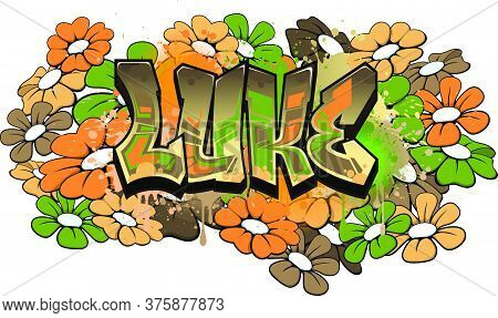 Luke.  A Cool Graffiti Styled Logotype Design. Legible Letters Aimed For A Wide Range Audience Of Al
