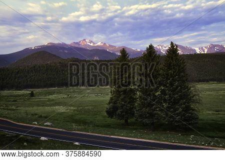Longs Peak Mountain From Bear Lake Road, Rocky Mountain National Ark