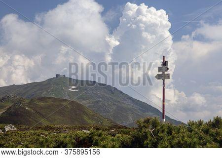The Chornohora Range, Is Located In Ukraine. The Former Popivan (pip Ivan, Pop Iwan) Observatory Is