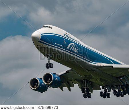 Air Bridge Cargo Boeing 747-8f Arriving At Frankfurt Airport, Germany On June 27th 2020