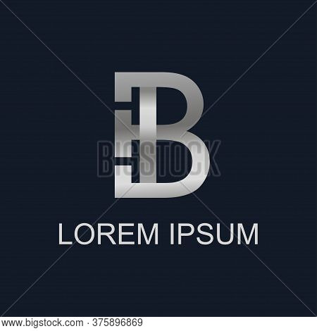Letter B Vector Illustration For Business Card, Ad, Logo, Print. Logotype B Template For Business. C
