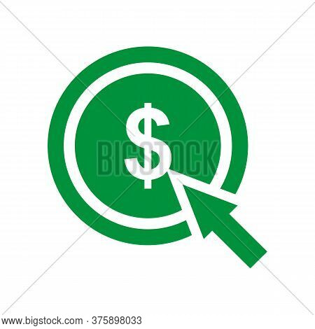 Pay Per Click Vector Icon On White Background. Flat Vector Pay Per Click Icon Symbol Sign From Moder