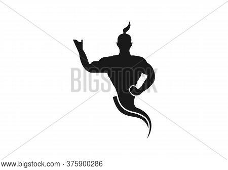 Genie Vector Icon On White Background. Flat Vector Genie Icon Symbol Sign