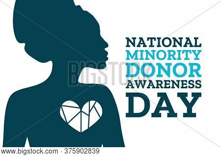 National Minority Donor Awareness Day. August 1. Holiday Concept. Template For Background, Banner, C