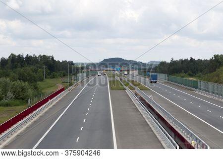 The A1 Motorway In The Czestochowa And Konopiska Regions In Poland