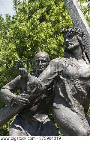 Czestochowa, Poland, June 23, 2020: The Mystery Of The Holy Rosary Around Jasna Gora. Painful Secret