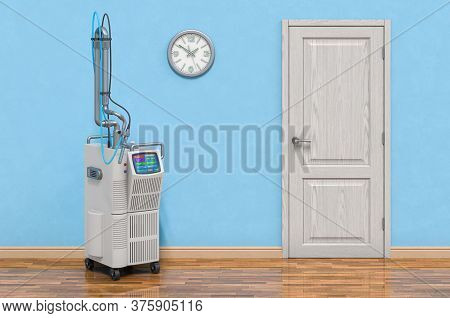 Professional Vaginal Tightening Fractional Co2 Laser System In Room Near Wall, 3d Rendering