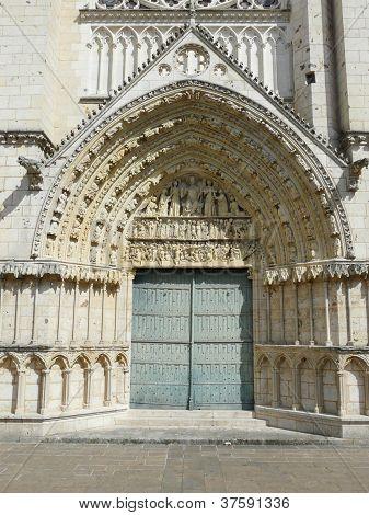 Close up of a church door