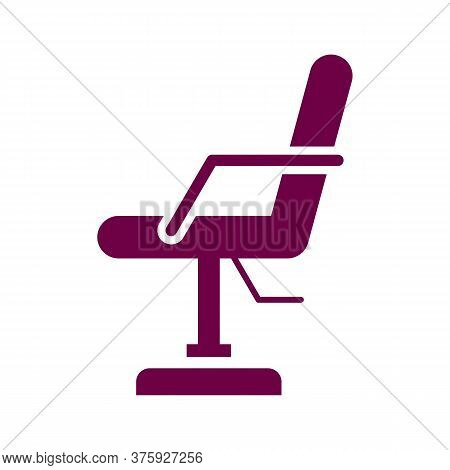 Beauty Salon Chair Vector Icon On White Background. Flat Vector Beauty Salon Chair Icon Symbol Sign