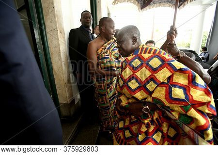 Salvador, Bahia / Brazil - October 17, 2017: Otumfuo Nana Osei Tutu Ii, King Of The Ashanti Nation O