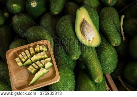 Avocado In The Thai Market, Flash Avocado, Avocado In The Market. Avocado Background