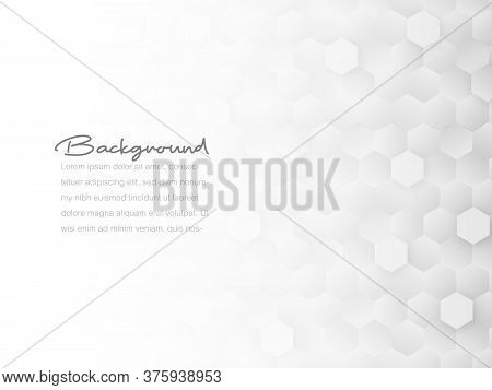 Abstract Geometric Or Isometric Tile Honeycomb Texture White And Gray Polygon Or Low Poly Vector Tec