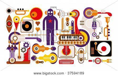abbildung abstrakt Musik
