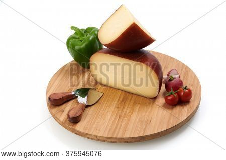 Organic  Cheese healthy gourment food  produced on local farm assortment  on wooden background
