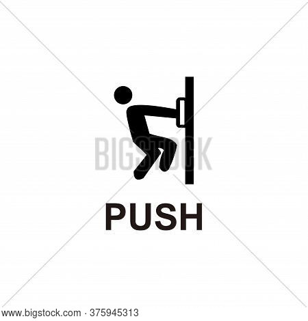Push Sign Icon Vector Illustration Isolated On White Background. Push Sign Icon Trendy And Modern. P