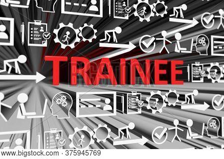 Trainee Concept Blurred Background 3d Render Illustration