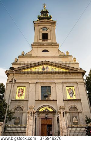 Belgrade / Serbia - October 6, 2018: Cathedral Church Of St. Michael The Archangel Serbian Orthodox